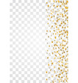 gold stars falling confetti frame isolated on vector image vector image