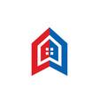 house icon building logo vector image vector image