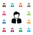 isolated coach icon guest element can be vector image vector image