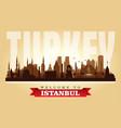 istanbul turkey city skyline silhouette vector image