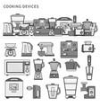 kitchen machines flat line line monochrome vector image vector image