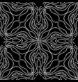 lace floral seamless pattern black and white vector image vector image