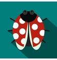 Ladybug icon flat style vector image