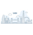 london city skyline - cityscape with landmarks vector image