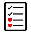 lovely list page icon vector image