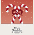 merry christmas cute card vector image vector image
