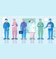 nurse protective uniform flat vector image