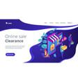 online discount store concept isometric 3d landing vector image vector image