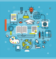 online learning flat design distant education vector image vector image