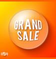 orange bubble with sale symbol vector image vector image