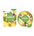 pineapple yogurt packaging design template vector image