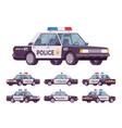 police car set vector image