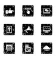 Promotion icons set grunge style vector image
