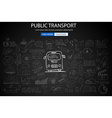 Public Transports concept wih Doodle design style vector image