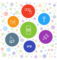 push icons vector image vector image