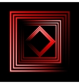Red neon square background vector image vector image