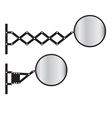 Retractable wall mirror vector image vector image