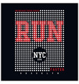 run sport typography for t-shirt vector image vector image