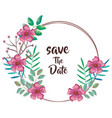 save the date circular frame vector image
