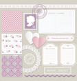 scrapbook set with different elements vintage vector image vector image