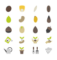 Seeds and Gardening Flat Color Icons vector image vector image