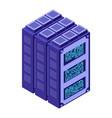 server data center isometric style internet vector image vector image