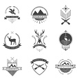Set of hunting camping fishing armory and shooters vector image vector image