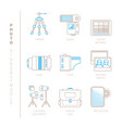 set of photography icons and concepts in mono vector image vector image