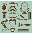 Set of vintage barber shop and hairdresser vector image vector image