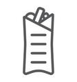 shaurma line icon food and meal burrito sign vector image