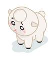sheep cub isometric 3d cute beef baanimal vector image vector image