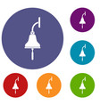 ship bell icons set vector image vector image