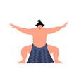 sumo character sumo wrestler design vector image vector image