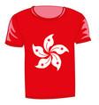 t-shirt flag hong kong vector image