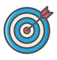 target colorful line icon business and dartboard vector image vector image