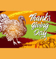 thanksgiving day holiday poster turkey domestic vector image vector image