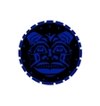 Tiger face indigenous pattern style vector image