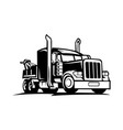 tow truck trailer vector image vector image