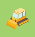 tractor bulldozer isometric vector image vector image