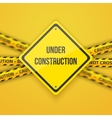 Under Construction Background with Yellow vector image vector image