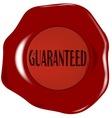 Wax Stamp Guaranreed vector image
