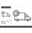 fast delivery line icon vector image