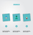 flat icons character wizard gnome and other vector image