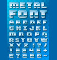 metallic font on a transparent background vector image