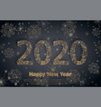 2020 happy new year holiday banner with sparkling vector image vector image