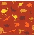 Australian animals pattern vector image vector image