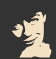 beautiful smiling woman face vector image