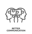 Better communication icon vector image