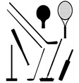 bits and stick to sports black and white vector image vector image