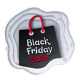 black friday sale shopping bag vector image vector image